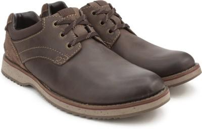 Clarks Mahale Plain Dark Brown Sneakers