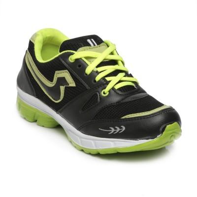 TEN Black::Green Mesh Sports Shoes Running Shoes