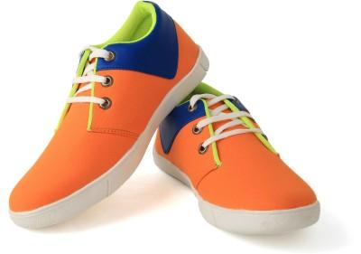 Felando 408-Orange-3 Canvas Shoes