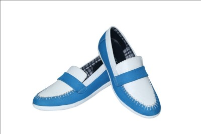 Skeeper Intl Skeeper Modish men's Blue & White Loafers
