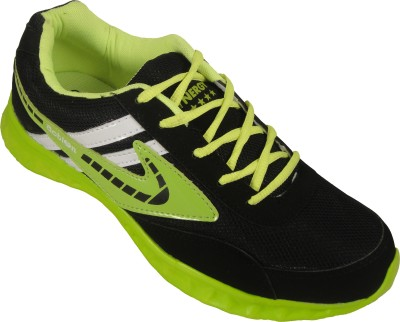 Action Synergy 7162 Black/Green Sports Walking Shoes