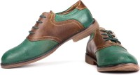 Famozi Men Corporate Casuals(Green, Brown)