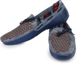 Beonza Boat Shoes (Blue, Tan)