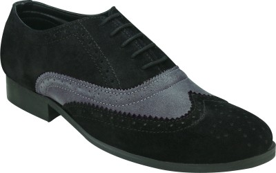 Entice BLACK GREY OXFORDS Corporate Casuals, Party Wear