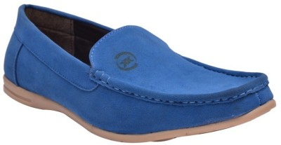 Bxxy Men,S Trendy Blue Slip-Ons Loafers