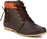 Wave Walk Latest Fashion Boots (Brown)