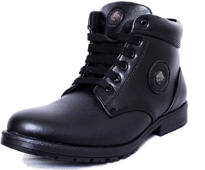 Black Tiger Men's Synthetic Leather Casual Shoes 091-Black-10 Casuals