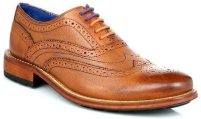 Ted Baker Mens Tan Guri 7 Leather Brogue Shoes Casual Shoes