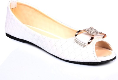 Bare Soles White Buckle Belly Bellies