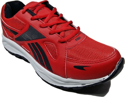 WBH RBN Classic Red Black Running Shoes