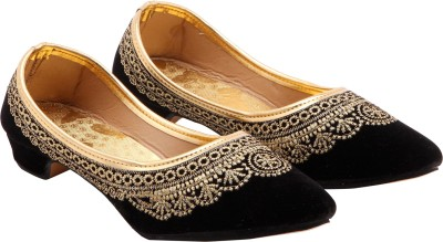 Royal Collection Women Black, Gold Heels