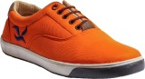 Hansx Canvas Footwear Sneakers (Orange)