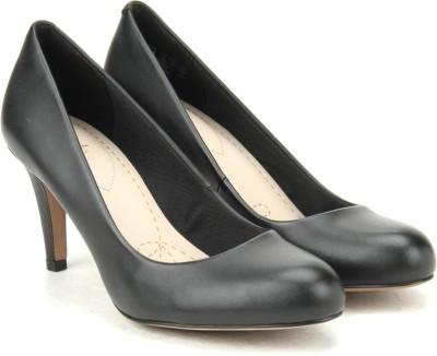 Clarks Carlita Cove Black Leather Slip on