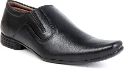 World Walker Black Shoes Slip On