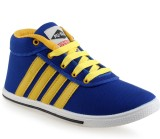 PU-Slim Blue Yellow Casuals (Blue, Yello...