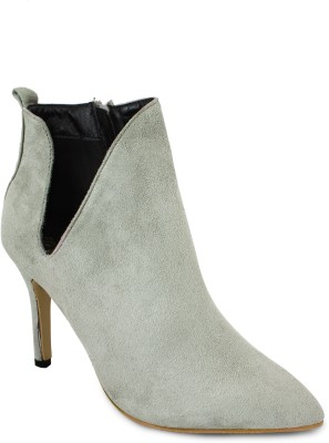 20Dresses Cut The Ankle Boots(Grey)