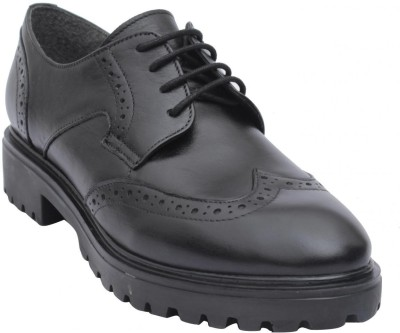 Salt N Pepper Lace Up(Black) at flipkart