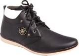 Azazo Boot shoes (Black, White)