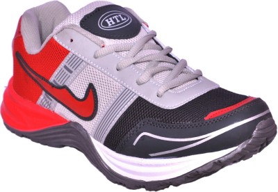 Hitcolus Dark Grey & Red Running Shoes, Walking Shoes