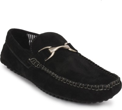Buckleup MENS LEATHER SHOES BU4001_BLACK-Size-8 Slip On(Black)