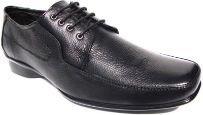 JK Port 0r201 Formal Leather Lace Up Shoes(Black) at flipkart