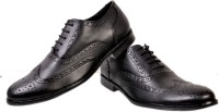 Hirel's Black Lace Up Shoes(Black)