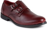 Shumael Cherry Leather Double Monk Shoes...