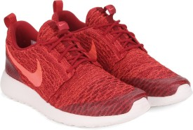 Nike WMNS ROSHE ONE FLYKNIT Running Shoes(Red)