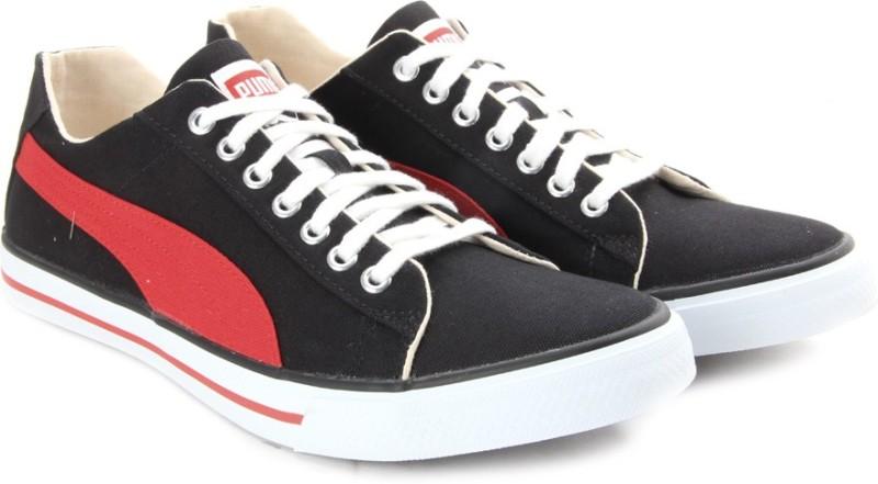 Puma Hip Hop 5 Ind. Men Canvas Sneakers(Black)