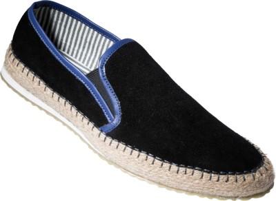 Zovi Black Slip-on Premium with Blue Accents Corporate Casuals