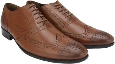 Brigit Brogue Shoes Brown Lace Up