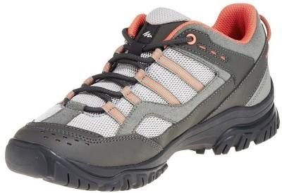 Quechua Grey Hiking & Trekking Shoes(Grey, Orange)