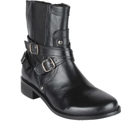 Salt N Pepper 14-331 Criminal Black Mid Ankle Boots Boots