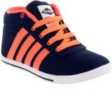 PU-Slim Sneakers (Blue)