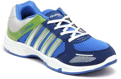 Columbus Premium Quality Running Shoes(Blue, Green)