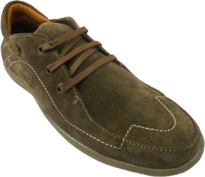 JK Port Mens Leather With Extra Comforts Casuals Shoes(Beige) at flipkart