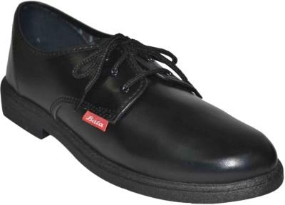 Bata Boys Black School Shoe Lace Up