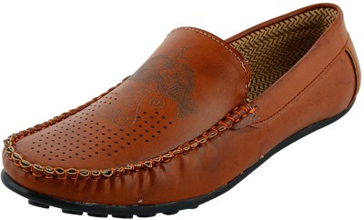VOGUE GUYS tan imbosing loafer Loafers
