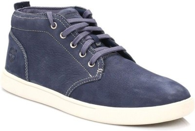 Timberland Mens Navy Groveton Leather Chukka Boots Casual Shoes