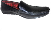 Hinacshi Black Faux Leather Loafers best price on Flipkart @ Rs. 699