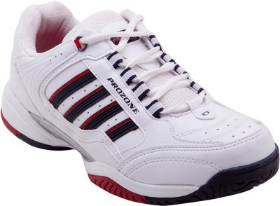 Prozone Men Imported Funky White Red Sports Running Shoes