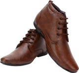 Smoky Premium High Ankle Lace Up (Brown)