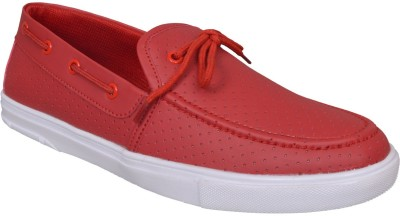 M & M RED Boat Shoes