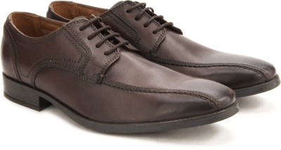 Clarks Kalden Vibe Brown Leather lace up
