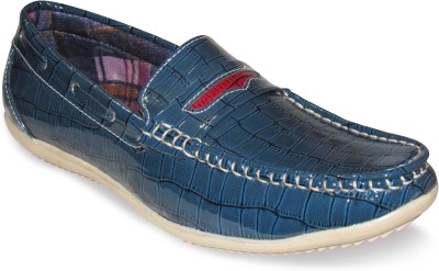 Sapatos Patent Leather stylish blue Loafers