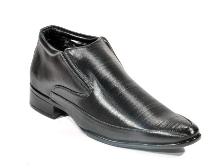 Big Wing Office Black Slip On Shoes