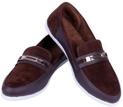 Goyal Brown Trendy Loafers