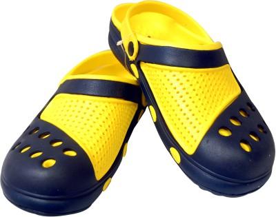 U & Me Stylish Black Yellow 40 Clogs