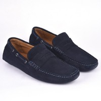 Classe Italiana Navy Suede Driving Shoes, Loafers, Casuals(Navy)