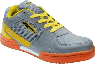 Gowin Ultra Grip Grey Yellow Badminton Shoes